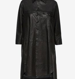 MDK leder jurk, zwart