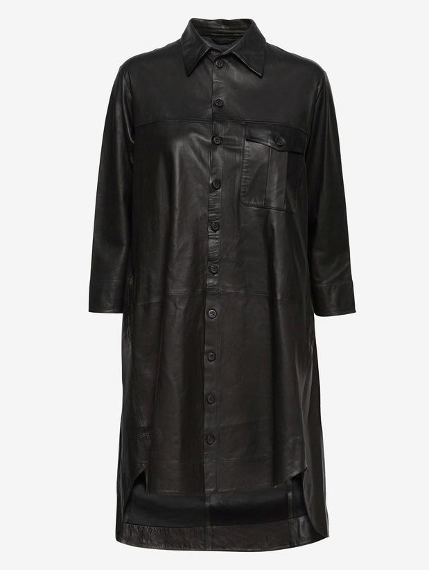 MDK Bishop leder jurk, zwart