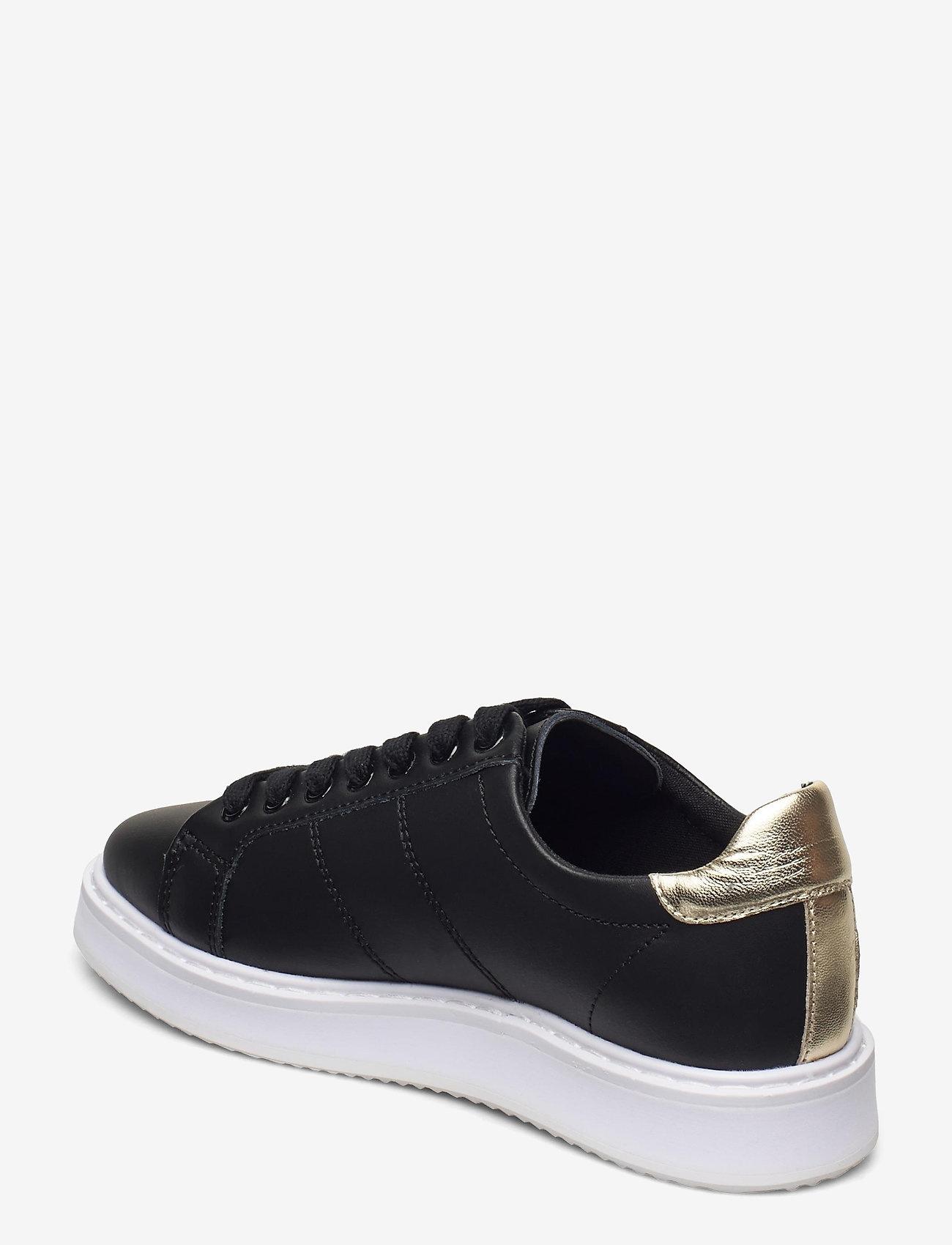 Lauren Ralph Lauren Metallic Sneakers, zwart