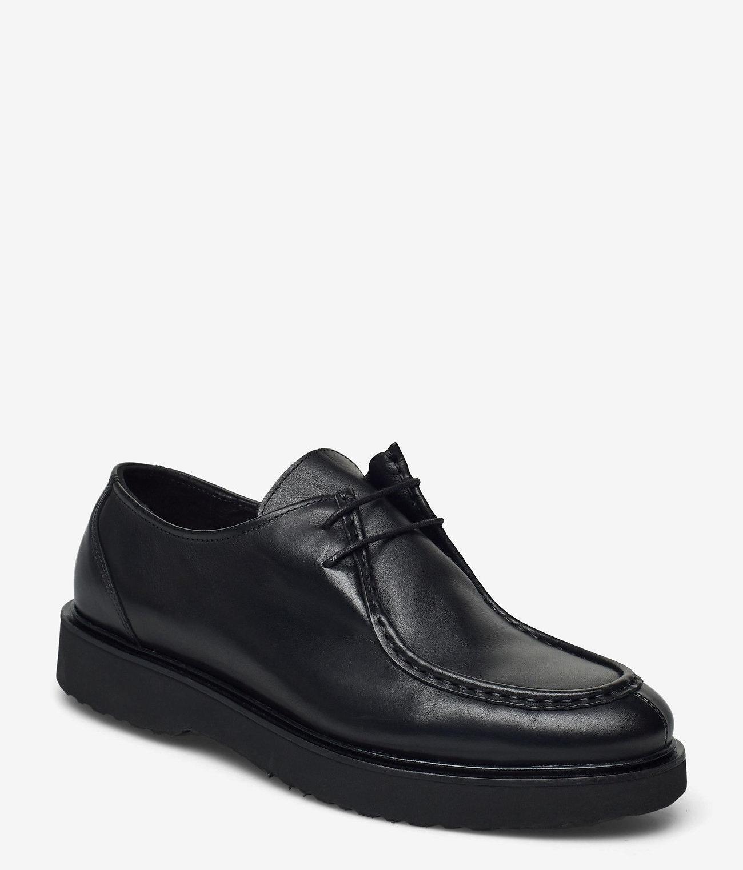 Shoe The Bear leder veterschoenen, zwart