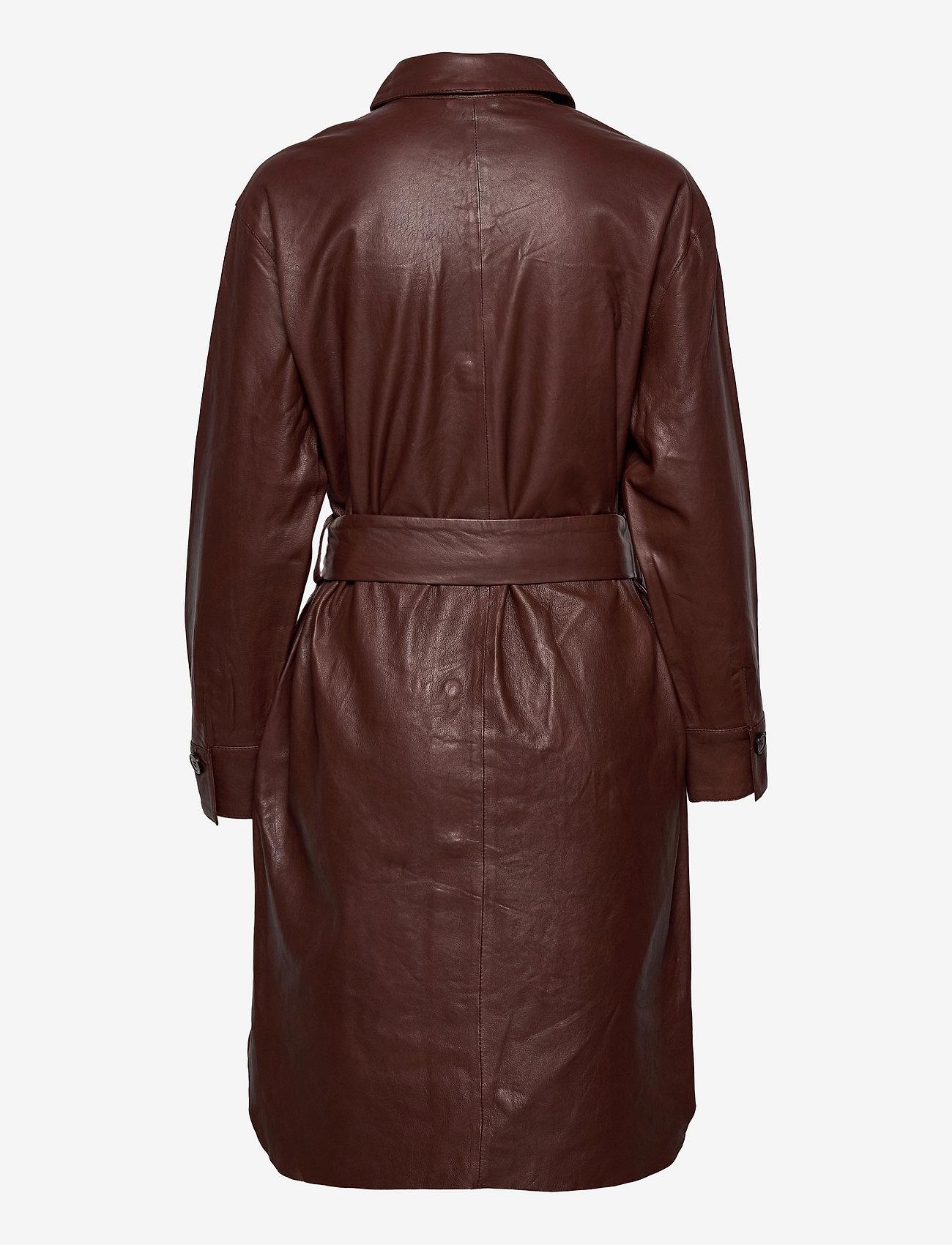 Saint Tropez Dames leer jurk, rood