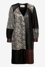 Karen By Simonsen Dames leder jurk, multi
