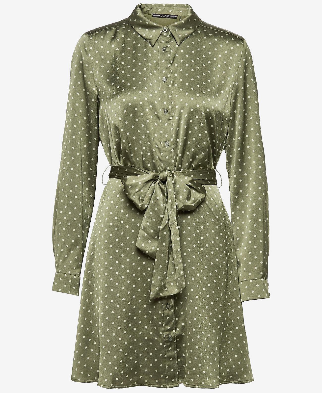 GUESS Jeans jurk, olijfgroen