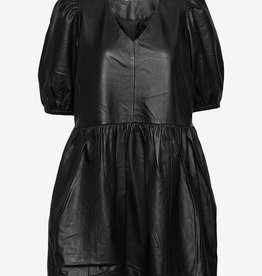 2NDDAY leder jurk, zwart
