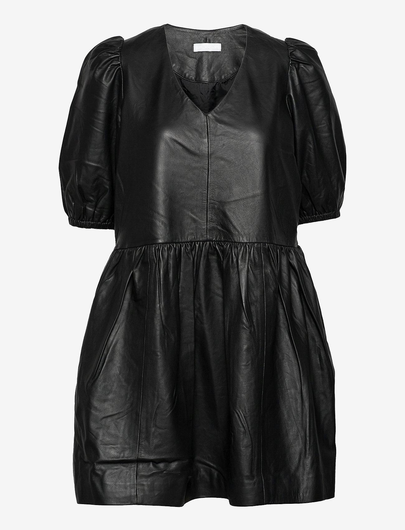 2NDDAY Dames leer jurk, zwart