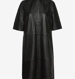 Second Female leder jurk, zwart