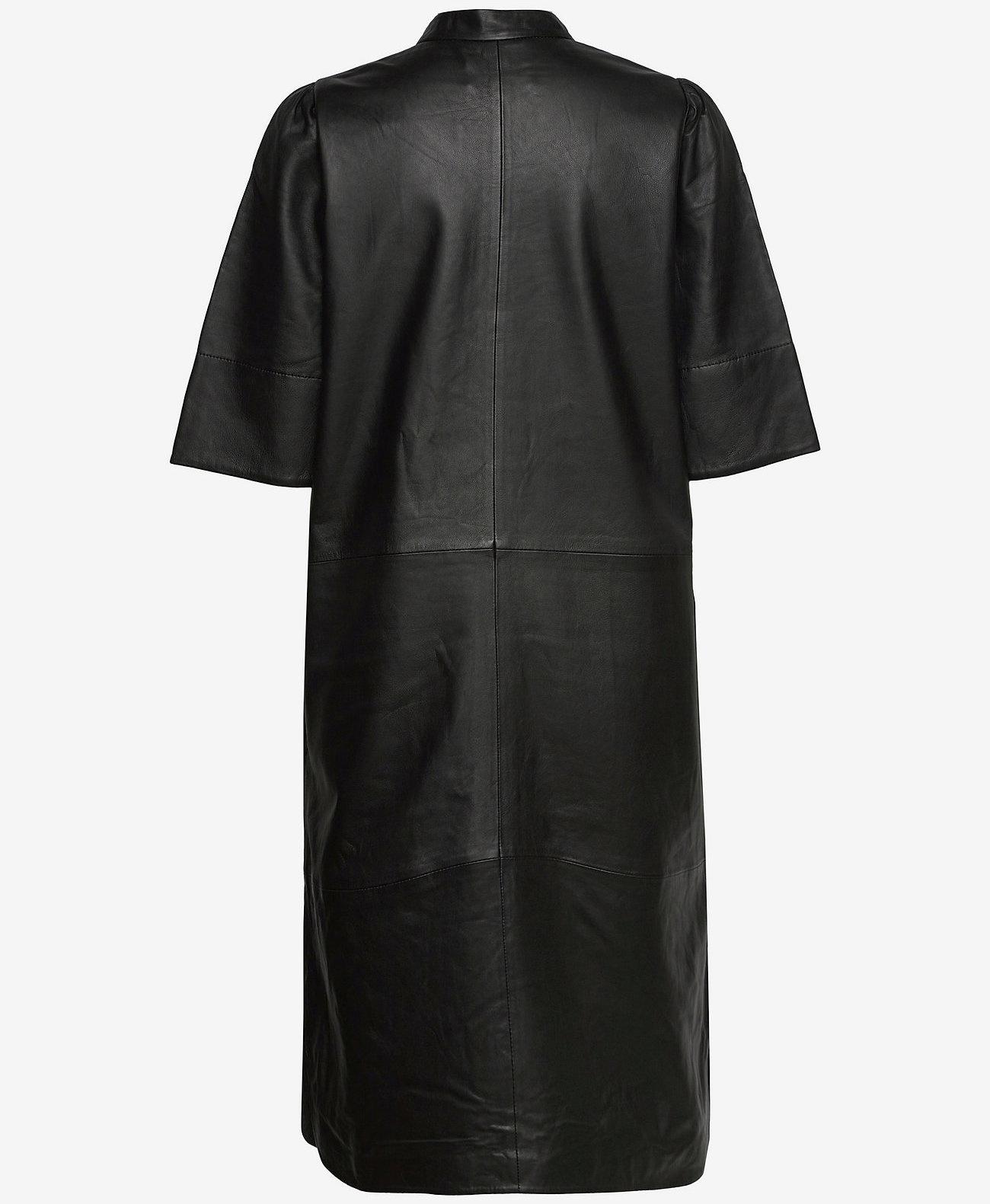 Second Female Dames leer jurk, zwart