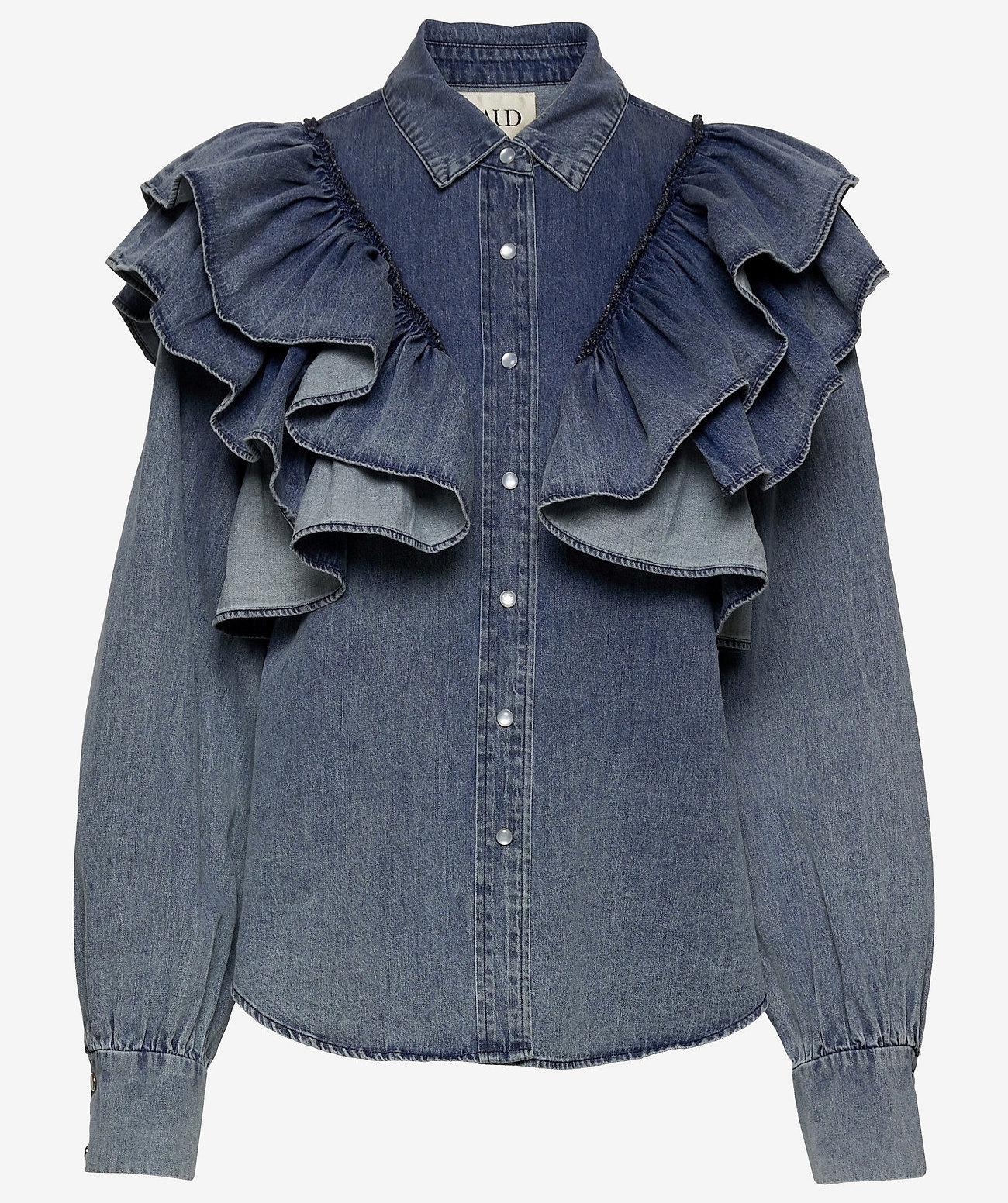 MAUD Dames blouse, blauw