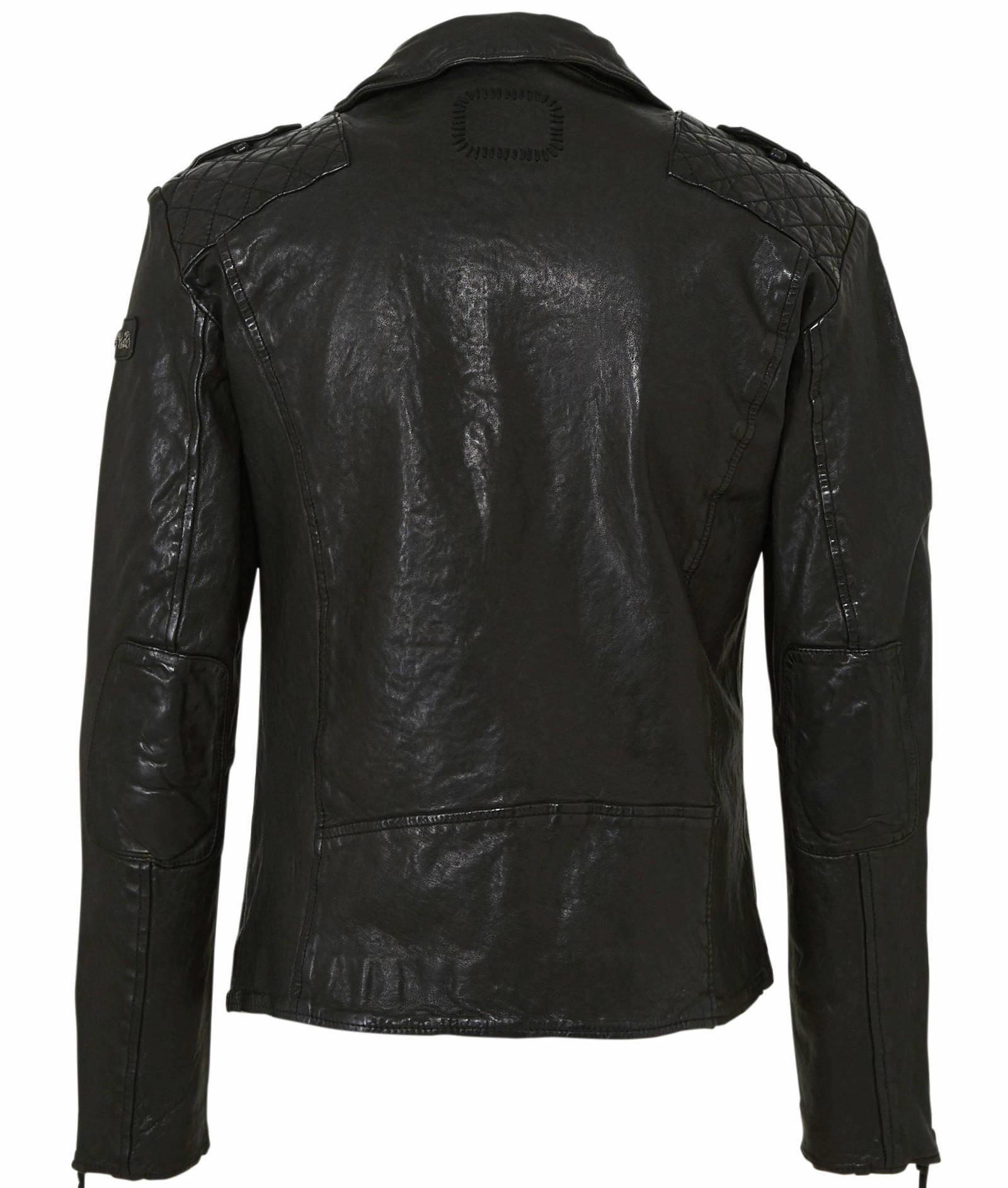 Tigha AARIC  Stijlvolle Leren jas, zwart