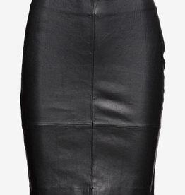 Selected Femme leer rok, zwart