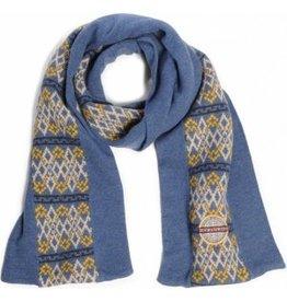 N-Z-A heren sjaal, blauw-geel