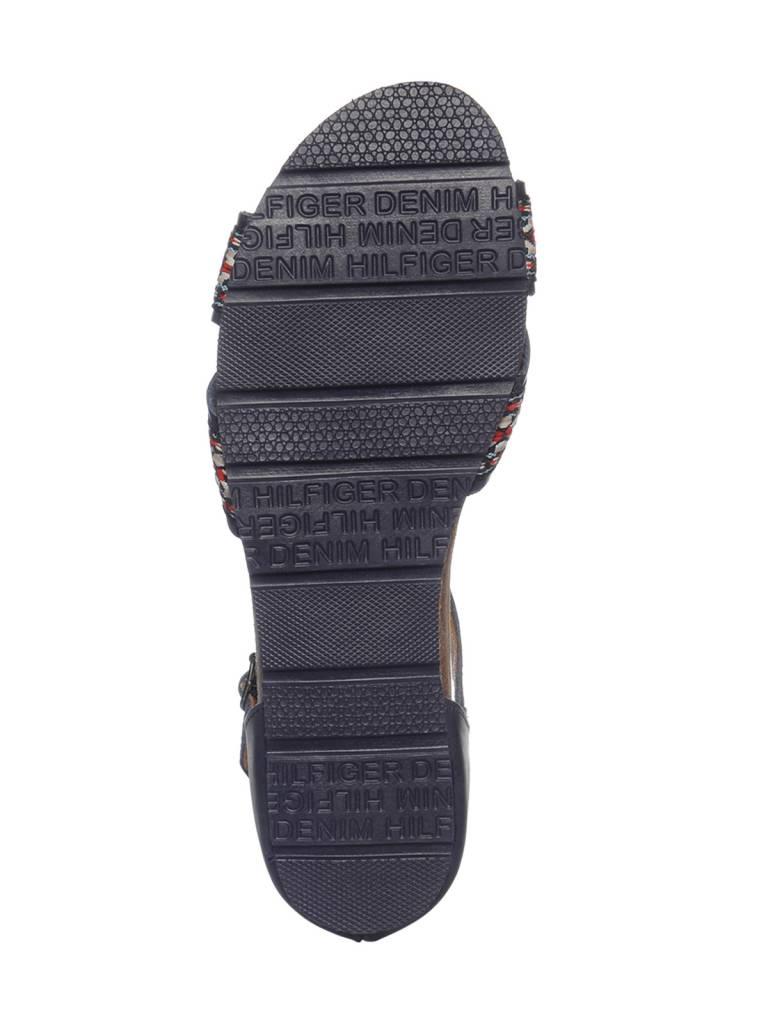 Tommy Hilfiger Dames J5 sandalen, marineblauw