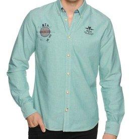 N-Z-A Overhemd Regular Fit, groen