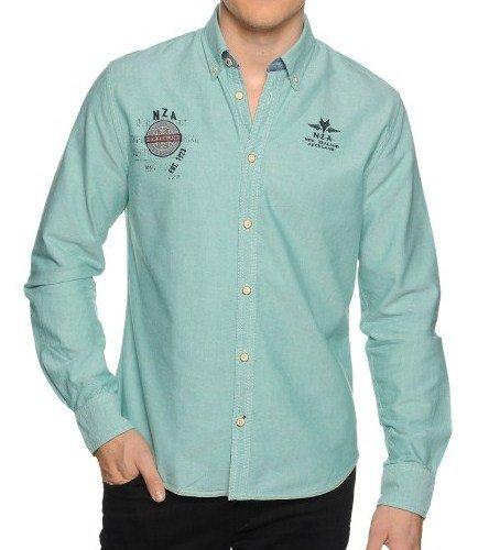 N-Z-A Casual Overhemd Regular Fit, groen