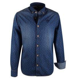 N-Z-A Custom Fit Jeans Overhemd, blauw