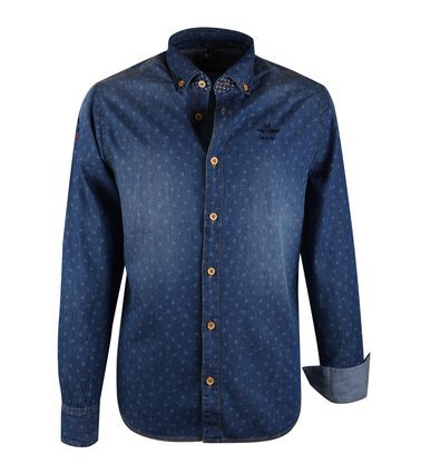 N-Z-A Fit Jeans Overhemd, blauw