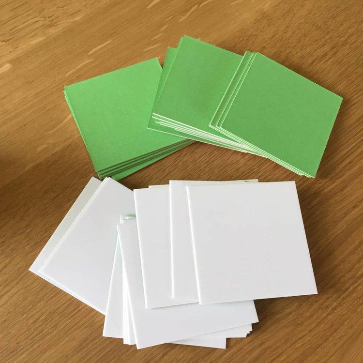 Blanco memorykaartjes