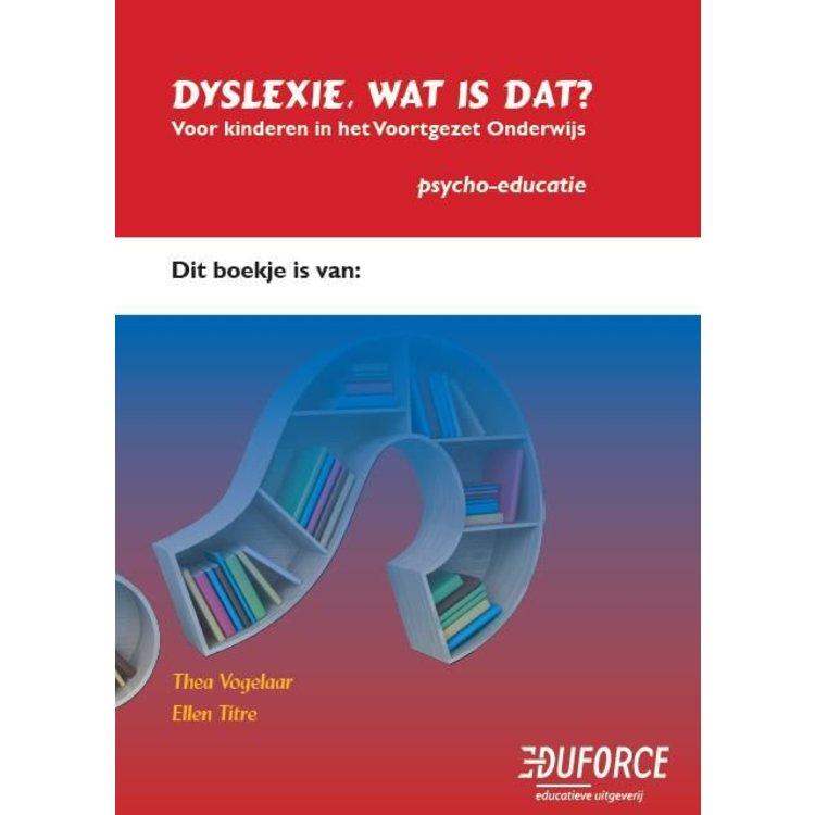 Dyslexie, wat is dat? VO
