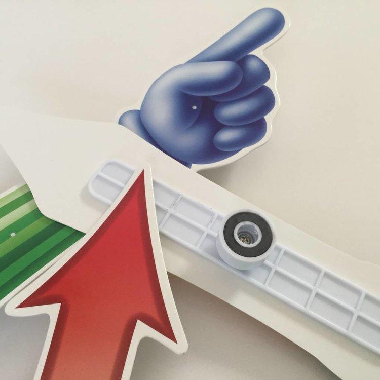 Whiteboard Magnetische spinner