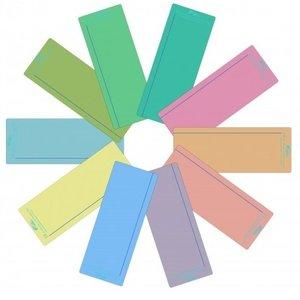 Leesliniaal geheel in één kleur, met leeslijn.