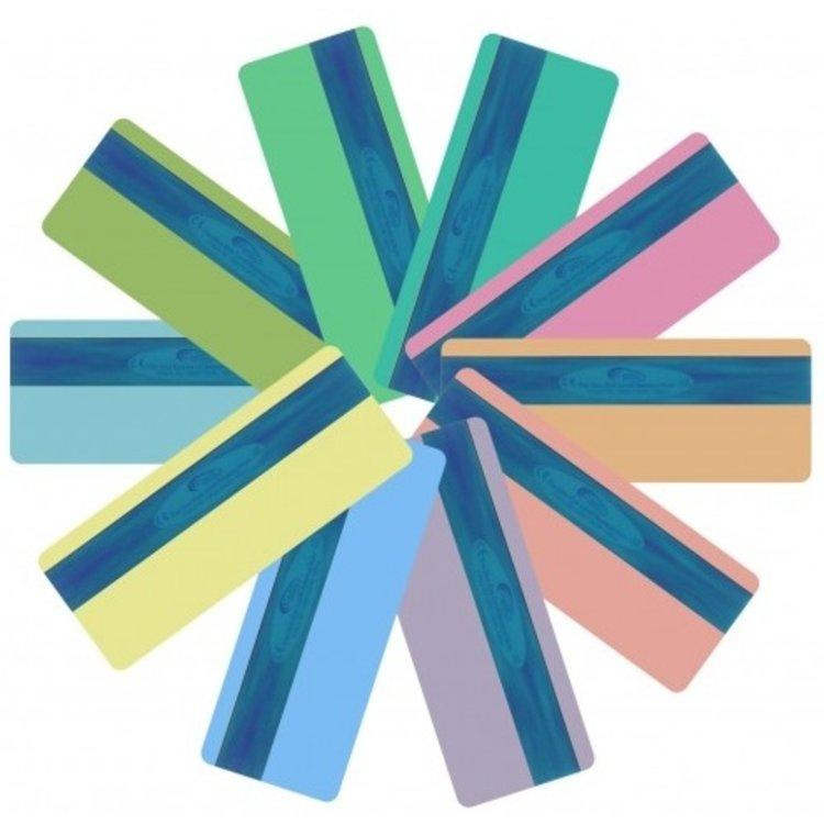 Leesliniaal met twee gekleurde strips