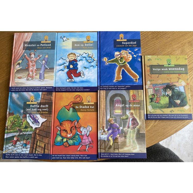 Set van 7 Villa Alfabet boeken