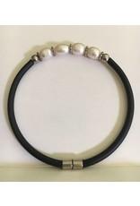 Mandisakura Armband met magneetsluiting - zilver kleurig