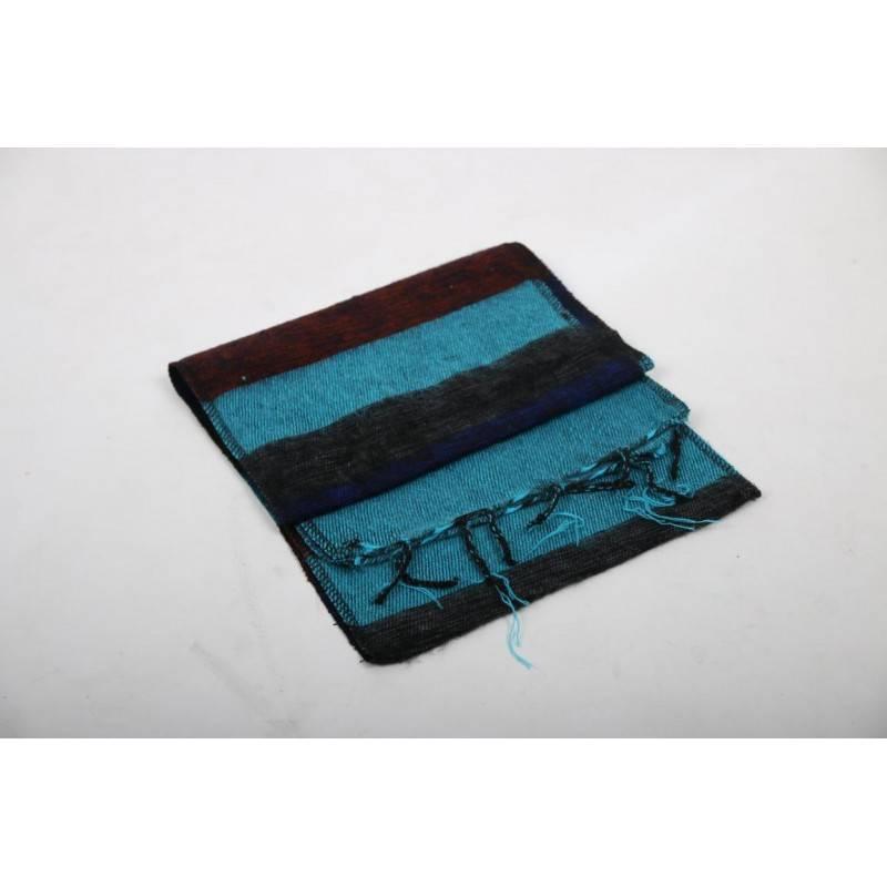 Mandisakura Sjaal Paars Bruin Turquoise, confortabel en voelt lekker warm en zacht - Copy