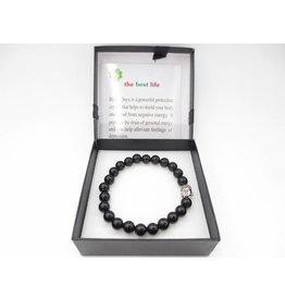 Mandisakura Armband Onyx 7 Boeddha