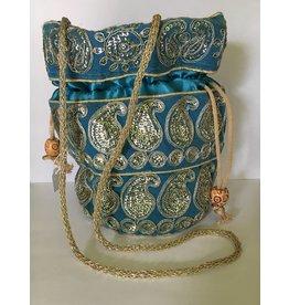 Mandisakura Buideltasje - blauw