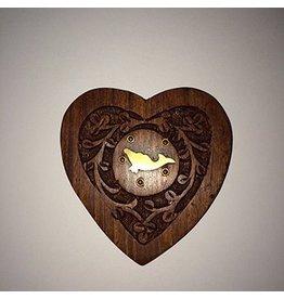 Mandisakura Wierookbrander hartvormig met Dolfijn