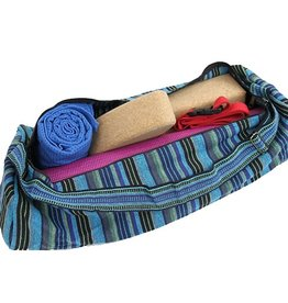Yoga & Yogini Yogamat tas  blauw gestreept