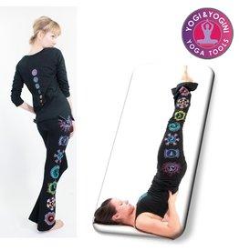 Yoga & Yogini Yoga handgeschilderde chakra broek katoen