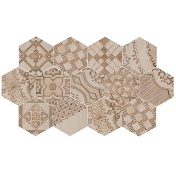 Marazzi Clays 18,2X21 Mm7y Cement Beige Hexagon Decor