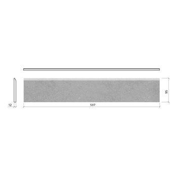 Mosa Solids plint 9,5X60 5108Bp Stone Grey Pt Per Stuk