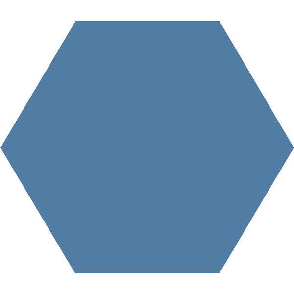 Winckelmans Hexagon 10X10 cm bleu fonce, afname per doos van 0,42 m²