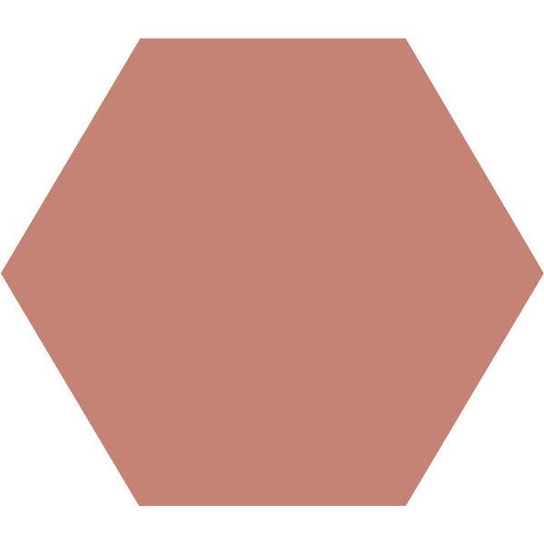 Winckelmans Hexagon 10X10 cm vieux rose, afname per doos van 0,42 m²