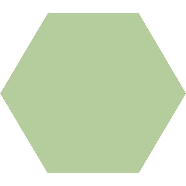 Winckelmans Hexagon 10X10 cm pistache, afname per doos van 0,42 m²