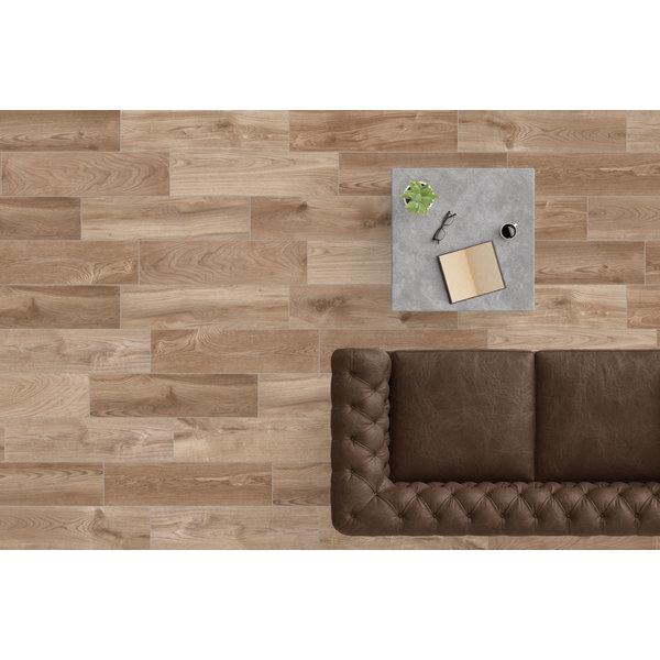 Vision Woods Noce 20x80 gerectificeerd, afname per doos van 1,28 m²