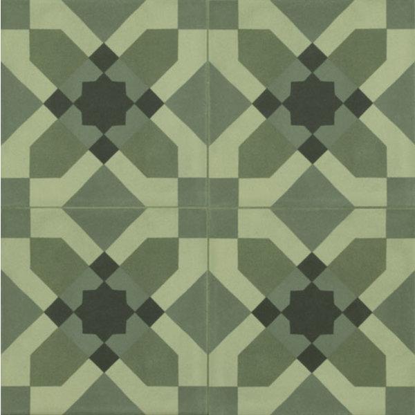 Marazzi D_Segni 20x20 Blend tappeto 4 M60L Verde, afname per doos van 0,96 m²