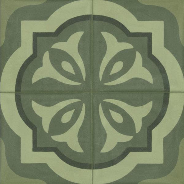 Marazzi D_Segni 20x20 Blend tappeto 3 M60H Verde, afname per doos van 0,96 m²