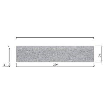 Mosa Global Collection Plint 7X30 76950 Bn Antr Grof Sp Per Stuk