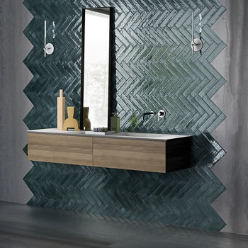 Viva Metal Brick Green Lux 6x24 a 0,52 m²