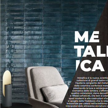 Viva Metal Brick Blue Lux 6x24 a 0,52 m²
