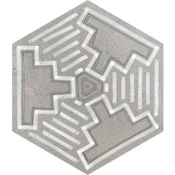 Vives Rift Igneus Cemento mix 6-hoek, 23x26,6 a 0,5 m²