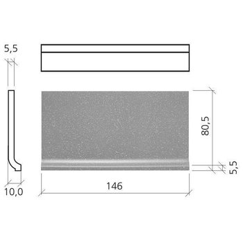 Mosa Softline Holplint 7,5X15 74050 Dp M Warmgrijs Per Stuk