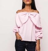 Off-shoulder bloes met strik