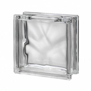Glasblok zonder verflaag, met gat
