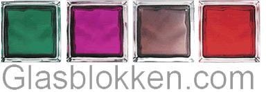 Glasblokken / glazen bouwstenen / glasdallen - Diverse kleuren, patronen en maten
