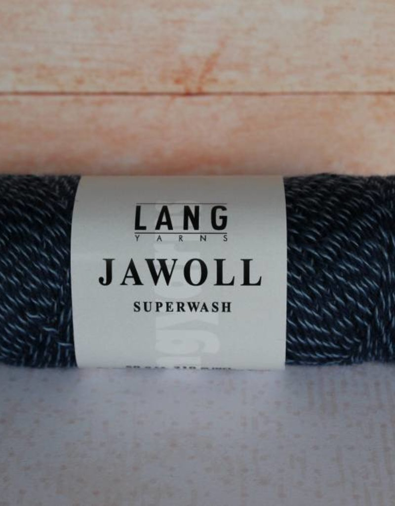 LangYarns JAWOLL Superwash 058 Wit / Blauw